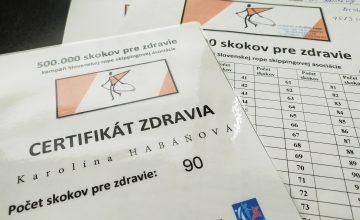 Aj naše CVČ Dubnica nad Váhom sa zapojilo do celoslovenskej kampane 500.000 skokov pre zdravie,ktorej cieľom je naskákať 500.000 skokov cez švihadlo.