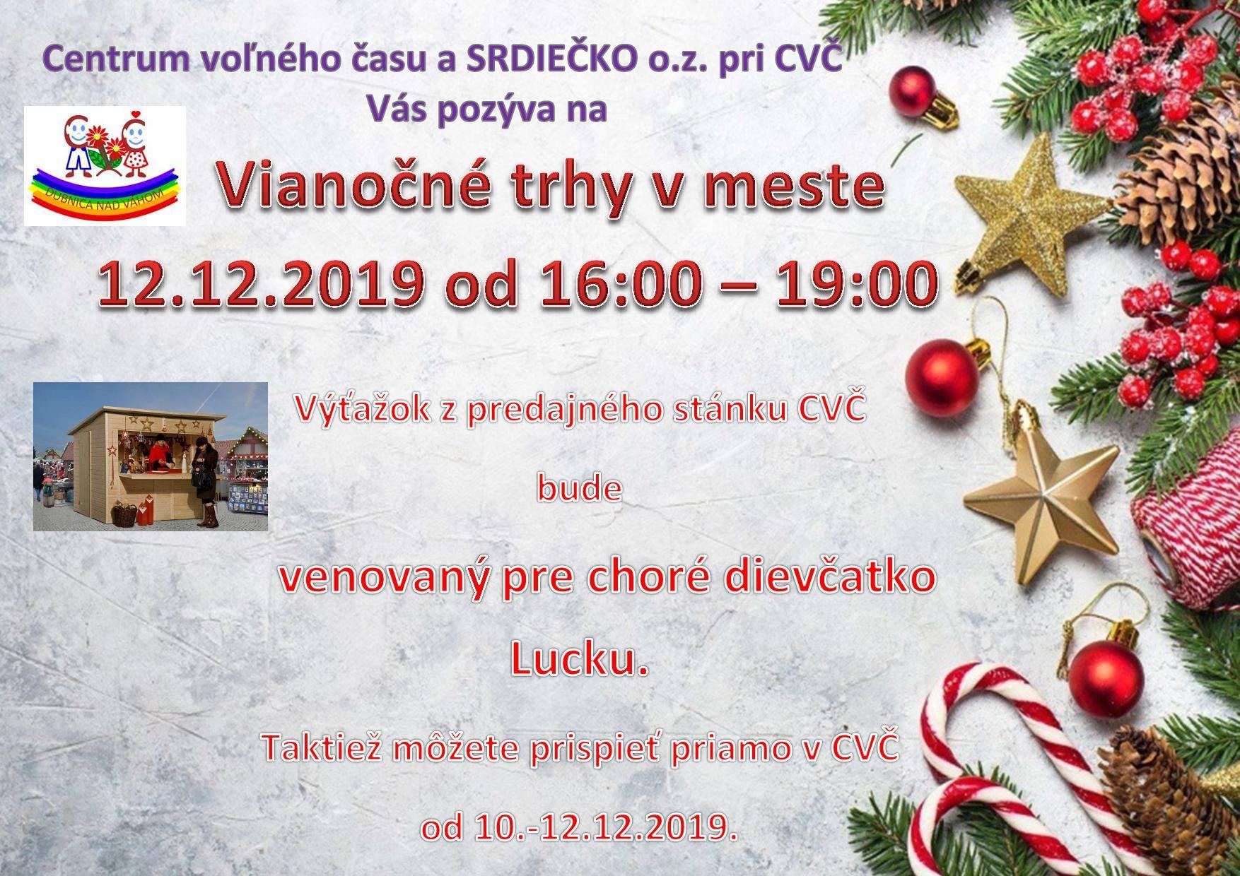 Vianočné trhy v meste - Cvč Dubnica nad Váhom